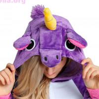 Костюм-кигуруми «Фиолетовый единорог»