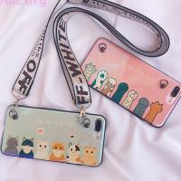 Чехол для iPhone с ремешком «Cat or lady»