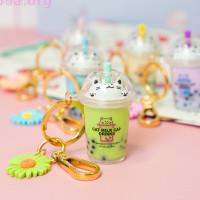 Брелок «Cat milk cap drinks»