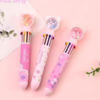 Ручка с 10-ю стержнями «Sakura cat»