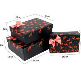 Подарочная коробка «Красный леопард» средняя
