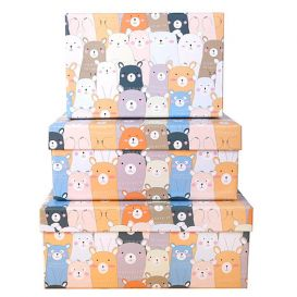 Подарочная коробка «Lots of bears» большая