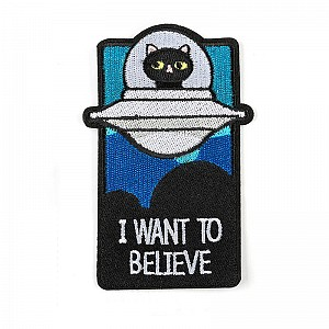 Нашивка «I want to believe кошачья версия»