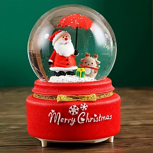 Стеклянный шар «Merry Christmas»