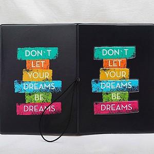 Обложка на паспорт «Don't let your dreams be dreams»