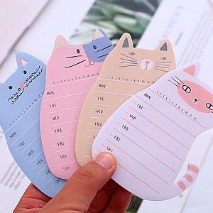 Стикеры «Cat weekly plan»