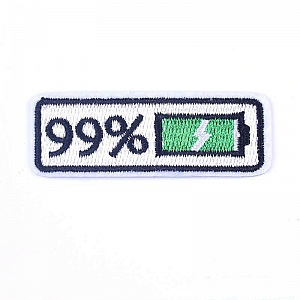 Нашивка «99% заряд»