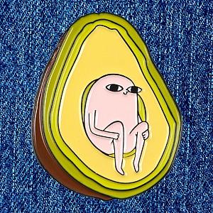 Брошь-значок «Авокадо»