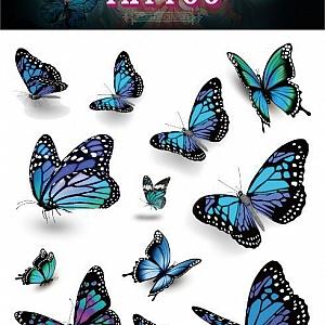 Временная татуировка «Butterflies»
