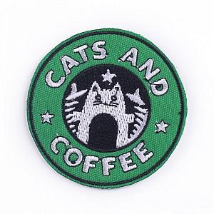 Нашивка «Cats and coffee»