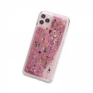 Чехол для iPhone «Flowers and sequins»