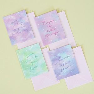Открытка «Bright lettering»