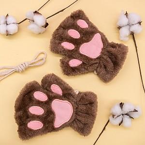 Перчатки без пальцев «Кошачьи лапки»