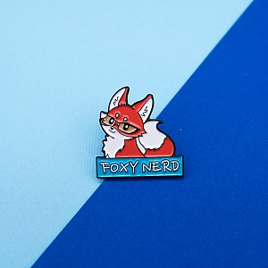 Брошь-значок «Foxy nerd»