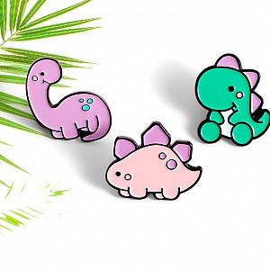 Брошь-значок «Color a dinosaur»