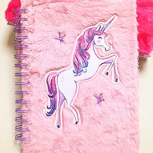 Блокнот с мехом «Pink unicorn»