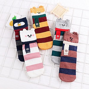 Носки «Зверек в шарфике»