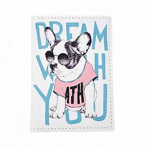 Обложка на паспорт «Bulldog on style»