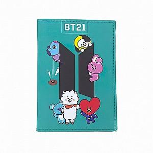 Обложка на паспорт «BT21»