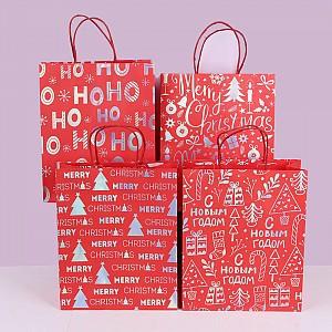 Подарочный пакет «New Year» средний