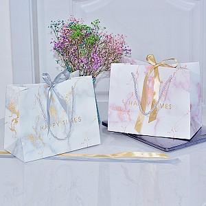 Подарочный пакет «Marble» маленький