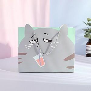 Подарочный пакет «Серый кот»