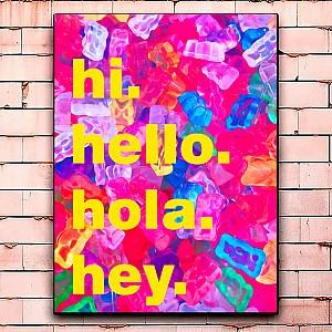 Постер «Hola» большой