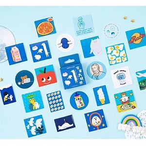 Набор стикеров «Blue joys»