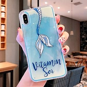 Светящийся чехол для iPhone «Vitamin Sea»