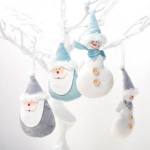 Новогоднее украшение «Дед Мороз и Снеговик»