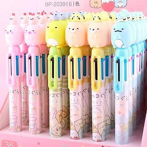 Ручка с 6-ю стержнями «Sumikko gurashi»