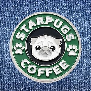 Брошь-значок «Starpugs coffee»