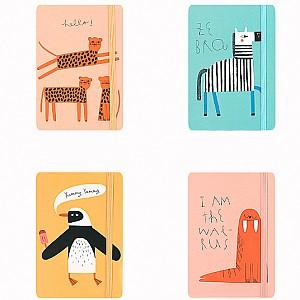 Блокнот «Painted animals» средний