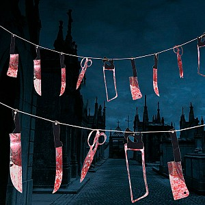 Гирлянда на Хэллоуин «Кровавые ножи»