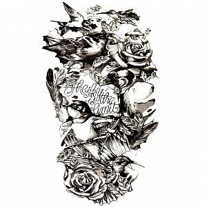 Временная татуировка «Black flower»