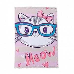 Обложка на паспорт «Meow»