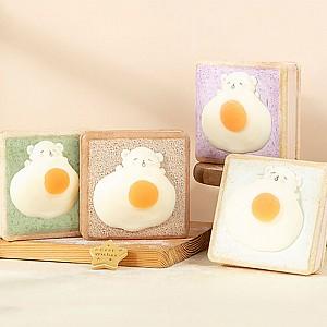 Блокнот со сквиши «Тост с яичницей»