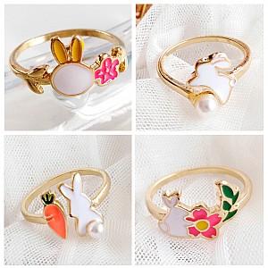 Кольцо «Белый кролик»