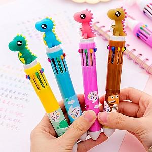 Ручка с 10-ю стержнями «Динозаврик»