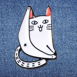 Брошь-значок «Cheeky cat»