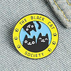 Брошь-значок «Society black cat»
