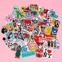 Набор наклеек для стикербомбинга «Brand and cartoon»