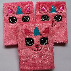 Блокнот с мехом «Кот-единорог»