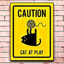 Постер «Caution! Cat at play» средний