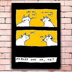 Постер «Nobody was ok» большой