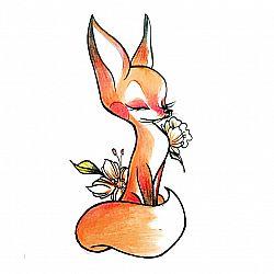 Временная татуировка «Лисичка»