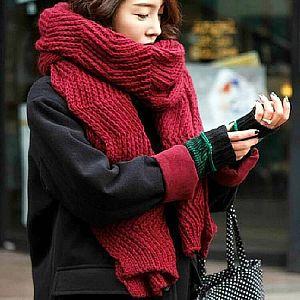 Узорчатый шарф