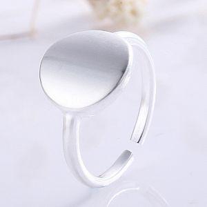 Кольцо «Круг» серебряное