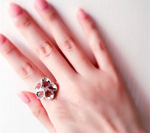 Кольцо «Пятилистник»