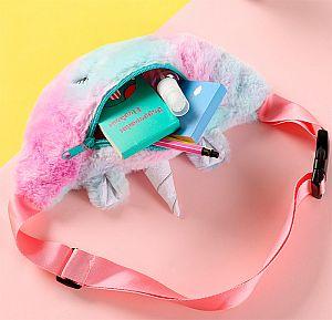 Поясная сумка с мехом «Единорог»